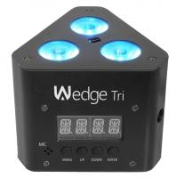 Wedge tri multi color led wash triangular truss accent chauvet light with dmx cable truss clamp combo detailed image 2